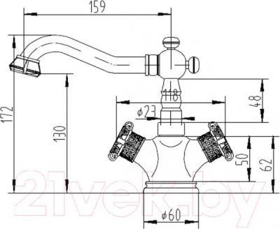 Смеситель ZorG Antic AZR 608 U-1-6 BR