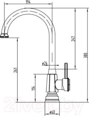 Смеситель ZorG Antic AZR 710 K-6-12 BR