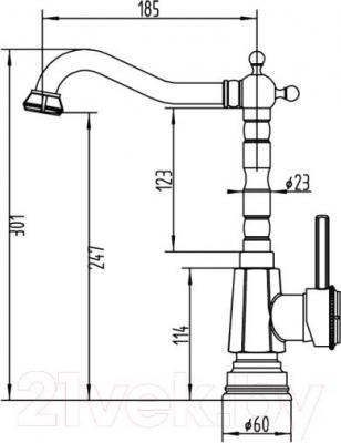 Смеситель ZorG Antic AZR 710 K-6-6 BR