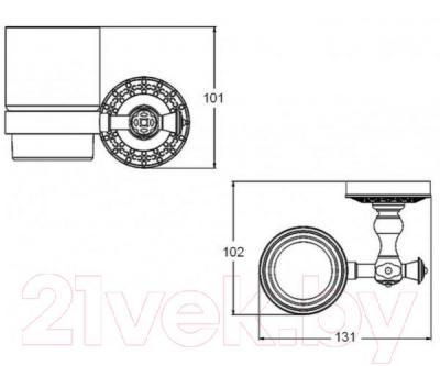 Стакан для зубных щеток ZorG Antic AZR-03 BR