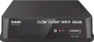Тюнер цифрового телевидения BBK SMP017HDT2 (темно-серый)