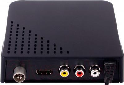 Тюнер цифрового телевидения BBK SMP017HDT2 (черный) - вид на разъемы