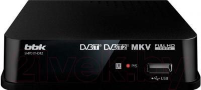 Тюнер цифрового телевидения BBK SMP017HDT2 (черный)