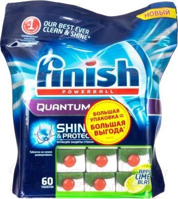 Таблетки для посудомоечных машин Finish Quantum Max Яблоко и Лимон (60шт)