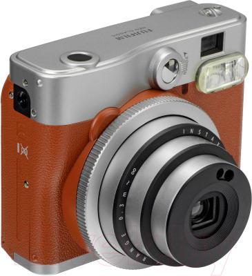 Фотоаппарат с мгновенной печатью Fujifilm Instax Mini 90 (серо-коричневый)