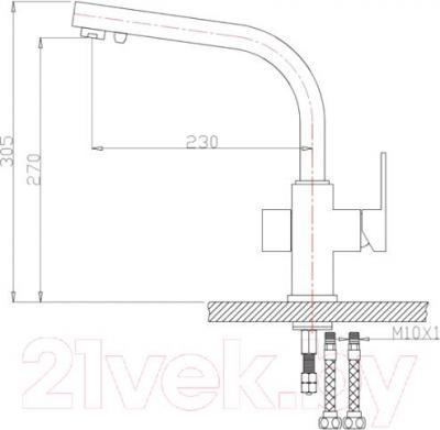 Смеситель ZorG ZR 311 YF (черный)