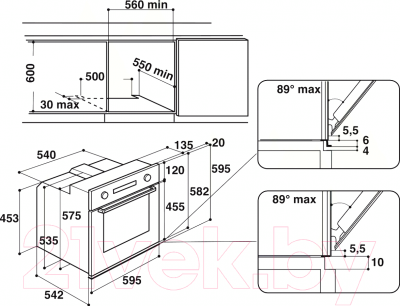 Электрический духовой шкаф Whirlpool AKP 785/IX