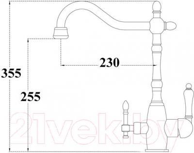 Смеситель ZorG ZR 312 YF-50 BR Light