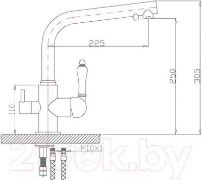 Смеситель ZorG ZR 313 YF-50 BR