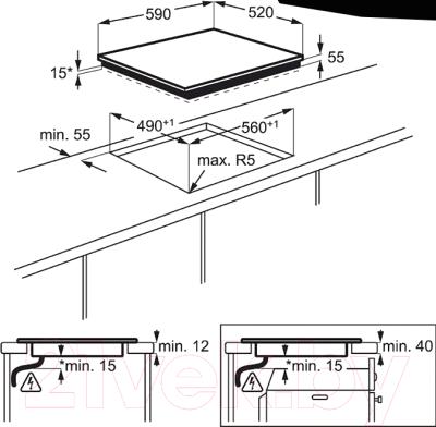 Индукционная варочная панель Electrolux EHI96732FK