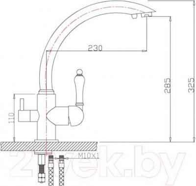 Смеситель ZorG ZR 314 YF-33 (сатин)