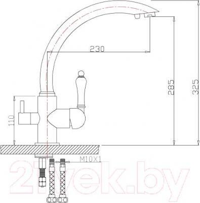 Смеситель ZorG ZR 314 YF-33 (никель)
