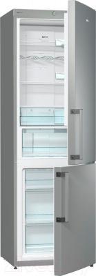 Холодильник с морозильником Gorenje NRK6191GX