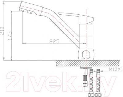 Смеситель ZorG ZR 400 KF-12 (никель)