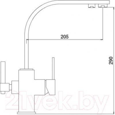 Смеситель ZorG ZR 332 YF (черный металл)