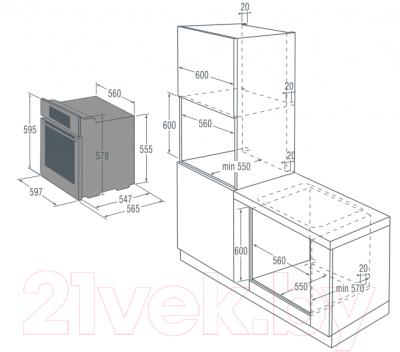 Электрический духовой шкаф Gorenje GP852X