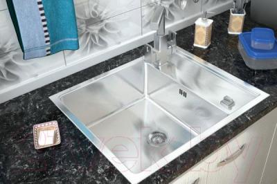 Мойка кухонная ZorG Steel Hammer SH R 6050 Luxe