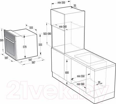 Электрический духовой шкаф Gorenje BO637E21XG