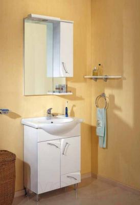 Шкаф с зеркалом для ванной Aqwella Алина 65 (Al.02.06) - в интерьере