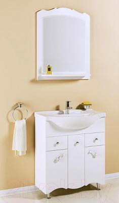 Зеркало для ванной Aqwella АртДеко 65 (Art.02.65) - в интерьере с тумбой под умывальник