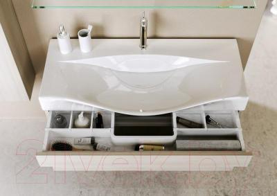 Тумба под умывальник Aqwella Бергамо 100 (Ber.01.10/W) - верхний ящик имеет систему разделения внутреннего пространства