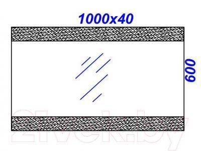 Зеркало для ванной Aqwella Бергамо 100 (Ber.02.10) - технический чертеж
