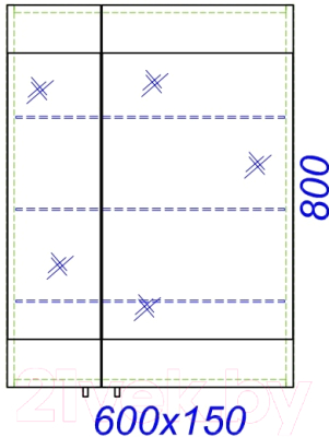 Тумба с умывальником Aqwella Бриг 60 (Br.01.06/SM)