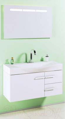 Зеркало для ванной Aqwella Европа 100 (Eu.02.10) - в интерьере с тумбой под умывальник