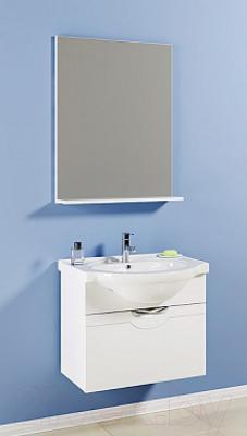 Зеркало для ванной Aqwella Н-Лайн 65 (N-Li.02.06) - в интерьере с тумбой под умывальник