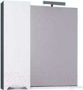 Шкаф с зеркалом для ванной Aqwella Плазма Pl.02.08/Gr