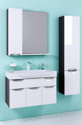 Шкаф-пенал для ванной Aqwella Плазма 30 (Pl.05.03/Graphite) - в интерьере