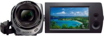 Видеокамера Sony HDR-CX220E (Silver) - вид спереди
