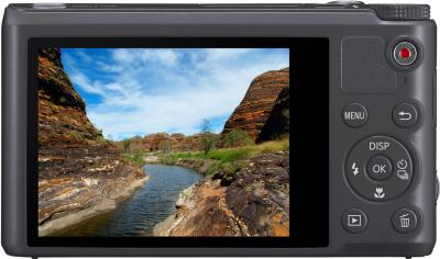 Компактный фотоаппарат Samsung WB250F (EC-WB250FBPARU) Gray - вид сзади