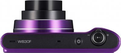 Компактный фотоаппарат Samsung WB30F Purple (EC-WB30FZBPLRU) - вид сверху