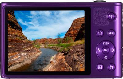 Компактный фотоаппарат Samsung WB30F Purple (EC-WB30FZBPLRU) - вид сзади