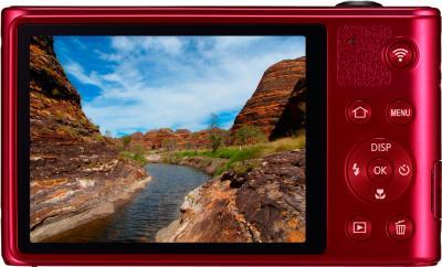 Компактный фотоаппарат Samsung WB30F Red (EC-WB30FZBPRRU) - вид сзади