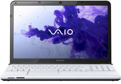 Ноутбук Sony VAIO SVE-1512D1R/W - фронтальный вид