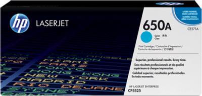 Тонер-картридж HP 650A (CE271A) - общий вид