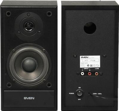 Мультимедиа акустика Sven SPS-700 (черный) - вид спереди