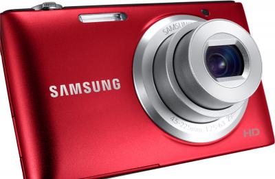 Компактный фотоаппарат Samsung ST72 (EC-ST72ZZBPRRU) (Red) - общий вид
