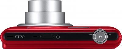 Компактный фотоаппарат Samsung ST72 (EC-ST72ZZBPRRU) (Red) - вид сверху