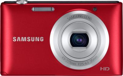 Компактный фотоаппарат Samsung ST72 (EC-ST72ZZBPRRU) (Red) - вид спереди
