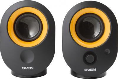 Мультимедиа акустика Sven 316 (черный) - вид спереди