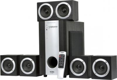 Мультимедиа акустика Sven HT-435D (черный) - общий вид