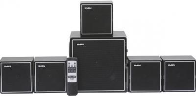 Мультимедиа акустика Sven HT-400 Black - вид спереди