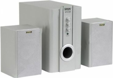 Мультимедиа акустика Sven SPS-820 (серебристый) - общий вид