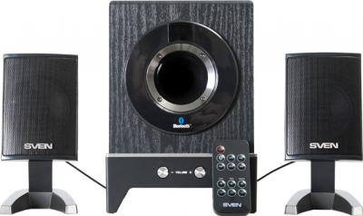 Мультимедиа акустика Sven MS-350BL (черный) - вид спереди