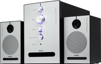 Мультимедиа акустика Sven MS-321 (черный) - общий вид