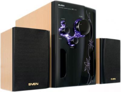 Мультимедиа акустика Sven MS-311 (бук/черно-фиолетовый) - общий вид