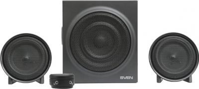 Мультимедиа акустика Sven MS-308 (черный) - вид спереди